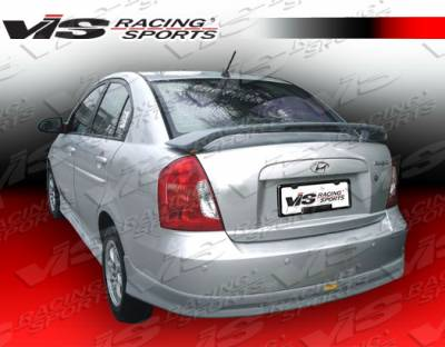 Accent 4Dr - Rear Bumper - VIS Racing - Hyundai Accent 4DR VIS Racing Fuzion Rear Lip - 06HYACC4DFUZ-012