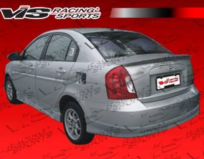 Accent 4Dr - Rear Bumper - VIS Racing - Hyundai Accent 4DR VIS Racing V Spec Rear Lip - 06HYACC4DVSC-012
