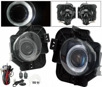 Headlights & Tail Lights - Fog Lights - 4CarOption - Nissan Altima 4CarOption Halo Projector Fog Light Kit - LHFP-NA074