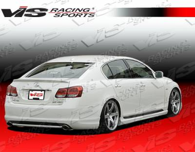 GS - Rear Bumper - VIS Racing - Lexus GS VIS Racing Wings Rear Lip - 06LXGS34DWIN-012