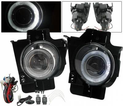 Headlights & Tail Lights - Fog Lights - 4CarOption - Nissan Altima 4CarOption Halo Projector Fog Light Kit - LHFP-NA082