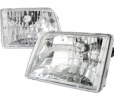 Headlights & Tail Lights - Headlights - 4 Car Option - Ford Ranger 4 Car Option Headlights - Crystal - LH-FR93-KS