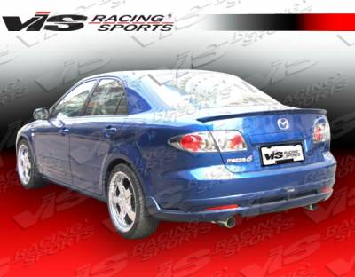 6 4Dr - Rear Bumper - VIS Racing - Mazda 6 VIS Racing Techno R Rear Lip - 06MZ64DTNR-012