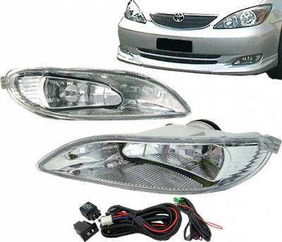 Headlights & Tail Lights - Fog Lights - 4 Car Option - Toyota Camry 4 Car Option Fog Light Kit - Clear - LHF-TCM01