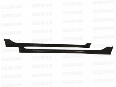 Civic 4Dr - Side Skirts - Seibon - Honda Civic 4DR Seibon MG Style Carbon Fiber Side Skirts - SS0607HDCV4DJ-MG