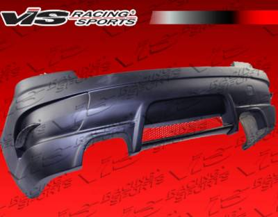 3 Series 2Dr - Rear Bumper - VIS Racing - BMW 3 Series VIS Racing RSR Rear Bumper - Carbon Fiber - 07BME922DRSR-002CC