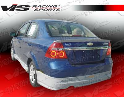 Aveo - Rear Bumper - VIS Racing - Chevrolet Aveo VIS Racing Fuzion Rear Lip - 07CHAVO4DFUZ-012