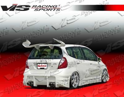 Fit - Rear Bumper - VIS Racing - Honda Fit VIS Racing Sense Rear Bumper - 07HDFIT4DSEN-002