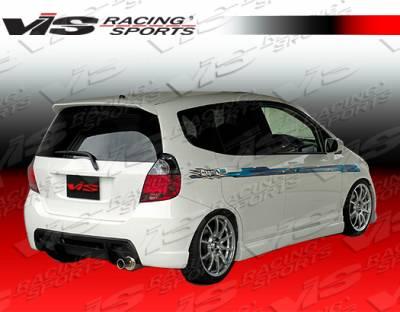 Fit - Rear Bumper - VIS Racing - Honda Fit VIS Racing Wings Rear Bumper - 07HDFIT4DWIN-002