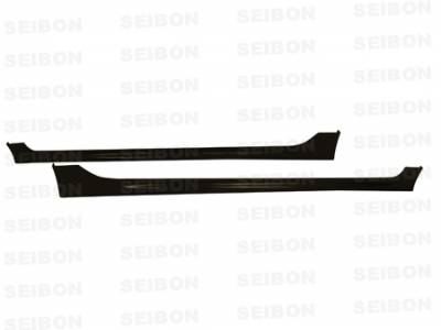 Civic 4Dr - Side Skirts - Seibon - Honda Civic 4DR Seibon MG Style Carbon Fiber Side Skirts - SS0607HDCV4D-MG