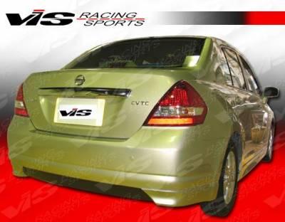 Versa - Rear Bumper - VIS Racing - Nissan Versa VIS Racing V Spec Rear Lip - 07NSVER4DVSC-012