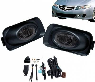 Headlights & Tail Lights - Fog Lights - 4 Car Option - Acura TSX 4 Car Option Fog Light Kit - Smoke - LHF-TSX-SM