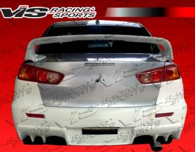 Lancer - Rear Bumper - VIS Racing. - Mitsubishi Lancer VIS Racing EVO X Widebody Rear Bumper - 08MTLAN4DEVXWB-002