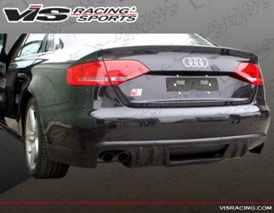A4 - Rear Bumper - VIS Racing - Audi A4 VIS Racing R Tech Rear Lip - 09AUA44DRTH-032