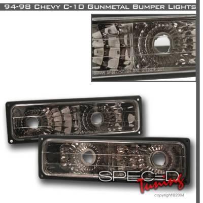 Headlights & Tail Lights - Corner Lights - Custom Disco - GMC C10 Custom Disco Gunmetal Bumper Lights - LB-C1094G-YD