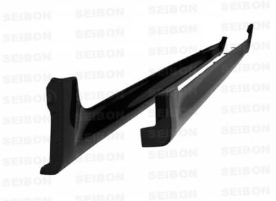 WRX - Side Skirts - Seibon - Subaru WRX Seibon OEM Style Carbon Fiber Side Skirts - SS0809SBIMP-OE
