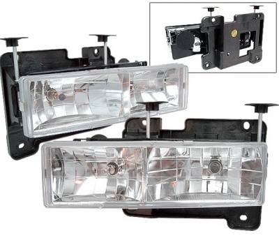 Headlights & Tail Lights - Headlights - 4 Car Option - GMC C10 4 Car Option Headlights - Chrome - LH-GC88-KS