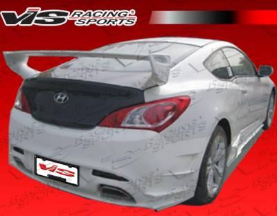 Genesis - Rear Bumper - VIS Racing - Hyundai Genesis VIS Racing FX Rear Bumper - 10HYGEN2DFX-002