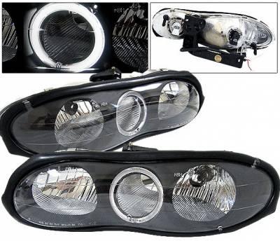 Headlights & Tail Lights - Headlights - 4 Car Option - Chevrolet Camaro 4 Car Option Halo Headlights - Black - LH-GCC93BC-2