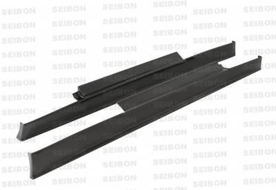 Skyline - Side Skirts - Seibon - Nissan Skyline Seibon SS Style Carbon Fiber Side Skirts - SS0910NSGTR-SS