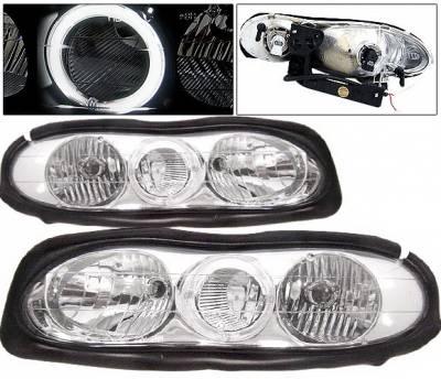 Headlights & Tail Lights - Headlights - 4 Car Option - Chevrolet Camaro 4 Car Option Halo Headlights - Chrome - LH-GCC93CC-2