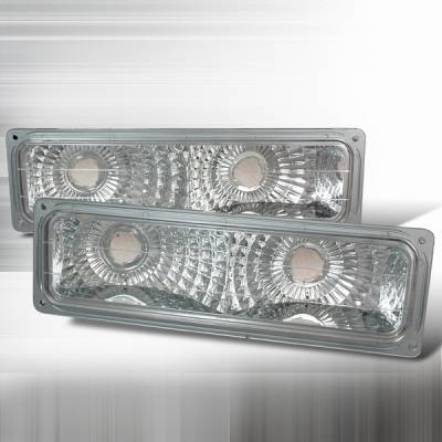 Headlights & Tail Lights - Corner Lights - Custom Disco - Chevrolet C10 Custom Disco Euro Clear Bumper Lights - LB-C1094-YD