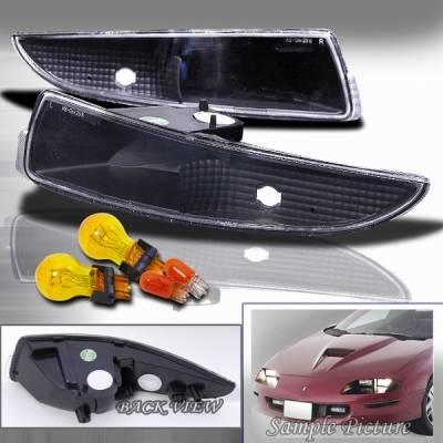 Headlights & Tail Lights - Corner Lights - Custom Disco - Chevrolet Camaro Custom Disco Black Bumper Lights - LB-CMR93JM-KS