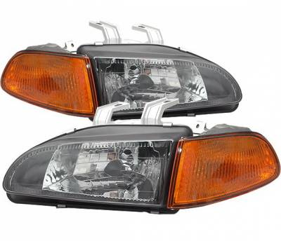 Headlights & Tail Lights - Headlights - 4CarOption - Honda Civic 2DR 4CarOption Headlights - LH-HC92BA-DP