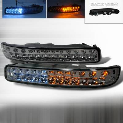 Headlights & Tail Lights - Corner Lights - Custom Disco - GMC Sierra Custom Disco LED Bumper Lights - LB-GMC99GLED-KS