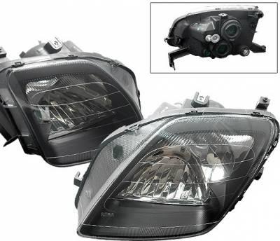Headlights & Tail Lights - Headlights - 4 Car Option - Honda Prelude 4 Car Option Headlights - Black - 1PC - LH-HP97B-DP