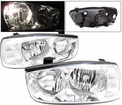 Headlights & Tail Lights - Headlights - 4 Car Option - Hyundai Elantra 4 Car Option Headlights - Clear - LH-HYE01C-KS