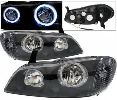 Headlights & Tail Lights - Headlights - 4 Car Option - Infiniti I-30 4 Car Option Halo Headlights - Black - LH-I30200B-KS