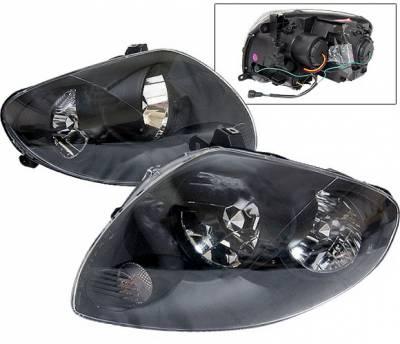 Headlights & Tail Lights - Headlights - 4 Car Option - Infiniti G35 4DR 4 Car Option JDM Headlights - Black - LH-IG354JB-KS