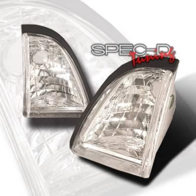 Headlights & Tail Lights - Corner Lights - Custom Disco - Ford Mustang Custom Disco Clear Bumper Lights - LB-MST87-KS