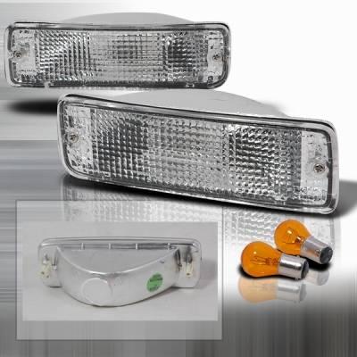 Headlights & Tail Lights - Corner Lights - Custom Disco - Toyota Pickup Custom Disco Clear Bumper Lights - LB-PIK89-KS