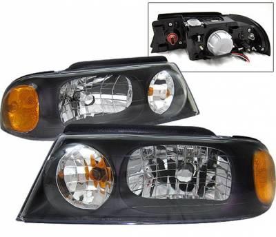 Headlights & Tail Lights - Headlights - 4 Car Option - Lincoln Navigator 4 Car Option Headlights - Black - LH-LN98B-KS