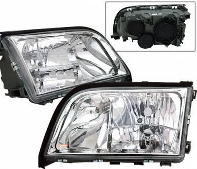 Headlights & Tail Lights - Headlights - 4 Car Option - Mercedes-Benz S Class 4 Car Option Crystal Headlights - LH-MBZW14092-KS