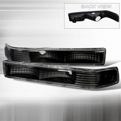 Headlights & Tail Lights - Corner Lights - Custom Disco - Chevrolet S10 Custom Disco Black Bumper Lights - LB-S1098JM-KS