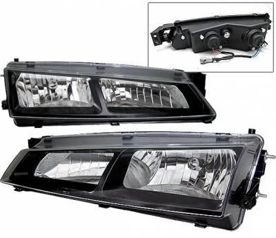 Headlights & Tail Lights - Headlights - 4 Car Option - Nissan 240SX 4 Car Option Headlights - Paintable Surface Black - LH-N24097B-YD