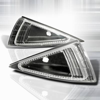 Headlights & Tail Lights - Corner Lights - Custom Disco - Chevrolet Cavalier Custom Disco Black Corner Lights - LC-CAV95JM-KS