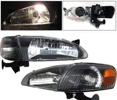 Headlights & Tail Lights - Corner Lights - 4 Car Option - Toyota Corolla 4 Car Option Corner Lights - Black - LH-TCL98B-KS-A