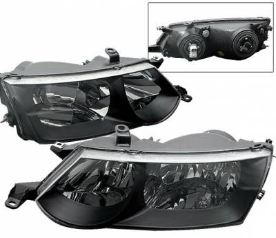 Headlights & Tail Lights - Headlights - 4 Car Option - Toyota Solara 4 Car Option Headlights - Black Clear - LH-TSOLR02BC-KS