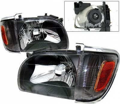 Headlights & Tail Lights - Headlights - 4 Car Option - Toyota Tacoma 4 Car Option Headlights - Black - LH-TTA01B-KS