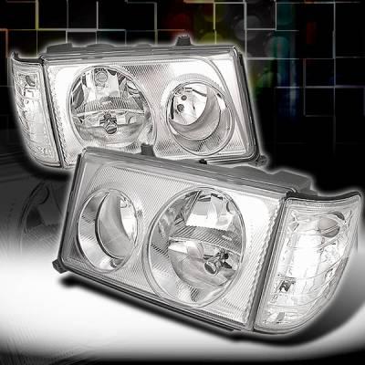 Headlights & Tail Lights - Headlights - Custom Disco - Mercedes-Benz E Class Custom Disco Headlights - LCLH-BW12494-KS