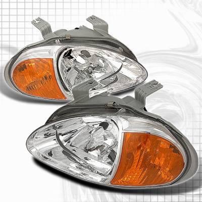 Headlights & Tail Lights - Headlights - Custom Disco - Honda Del Sol Custom Disco JDM Headlights - 1PC - LCLH-DEL93AM1PC