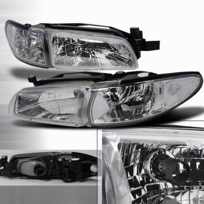 Headlights & Tail Lights - Headlights - Custom Disco - Pontiac Grand Prix Custom Disco Clear Headlights - LCLH-GPX97-KS