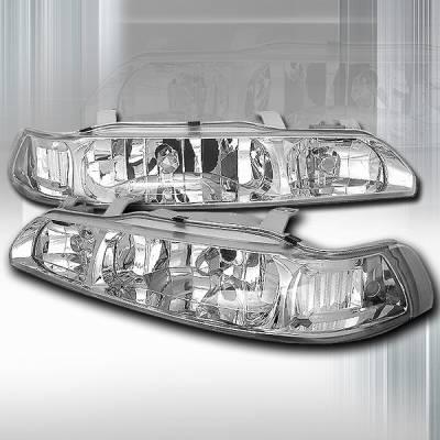 Headlights & Tail Lights - Headlights - Custom Disco - Acura Integra Custom Disco Clear JDM Headlights - 1PC - LCLH-INT901PC