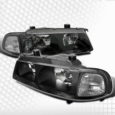 Headlights & Tail Lights - Headlights - Custom Disco - Honda Prelude Custom Disco Black & Clear Corner Headlights - 1PC - LCLHP-L92JM1PC