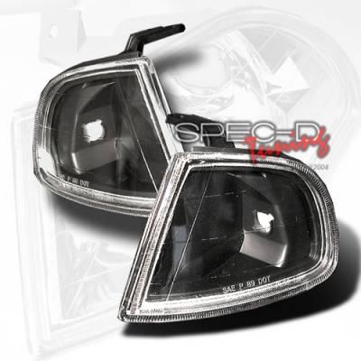 Headlights & Tail Lights - Corner Lights - Custom Disco - Honda Prelude Custom Disco Black Corner Lights - LC-PL92JM-YD