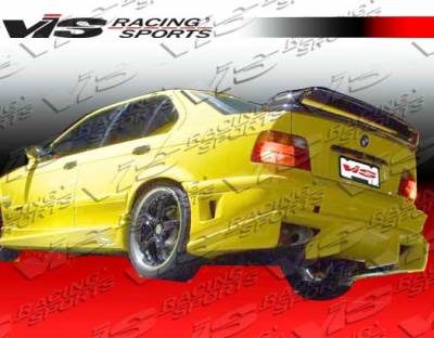 3 Series 4Dr - Rear Bumper - VIS Racing - BMW 3 Series VIS Racing Ballistix Rear Bumper - 92BME362DBX-002